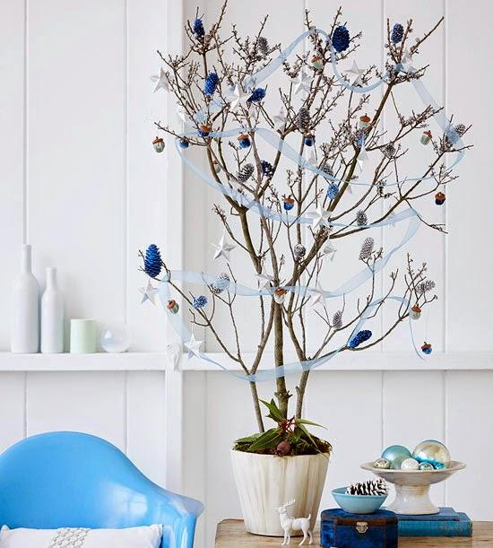 Deco Ideas Decorativas De Navidad Para Espacios Pequenos Decoracion - Ramas-de-arboles-para-decoracion