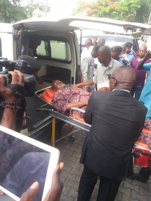 Dino Melaye Brought To Court On Stretcher By Police (Photos)