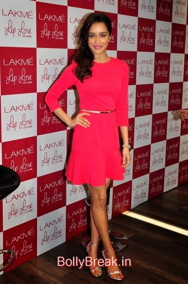 Bollywood Actress Shraddha Kapoor, Hot Pics Of Shraddha Kapoor in red dress from LAKME Event