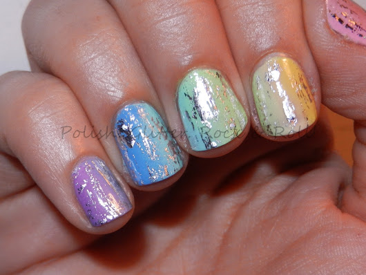 Polish. Glitter. Rock & Roll!: Rainbow Gradient with Nail Foils