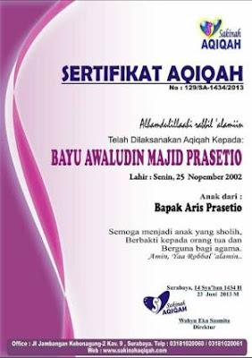 Alamat Sakinah Aqiqah Surabaya