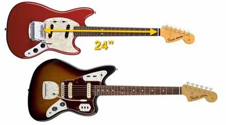 Escala muy Corta de 24 Pulgadas de la Guitarra Eléctrica