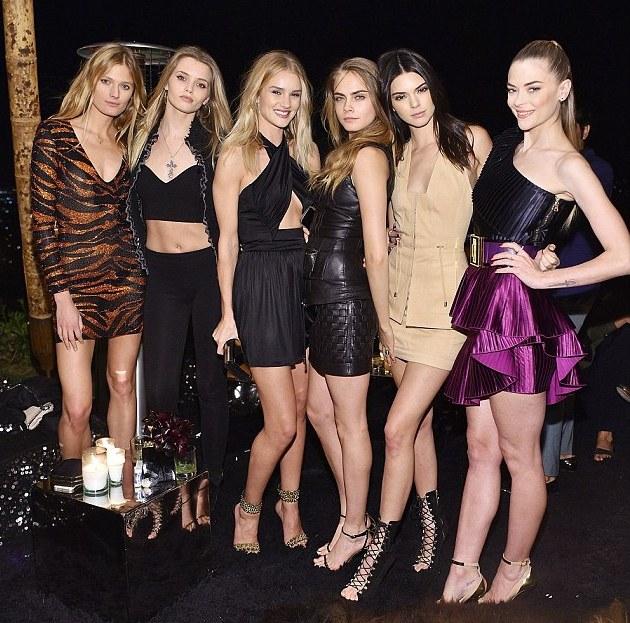 Kendall Jenner & Kylie Jenner join Jennifer Lopez & Cara Delevingne at Star studded Balmain Olivier party
