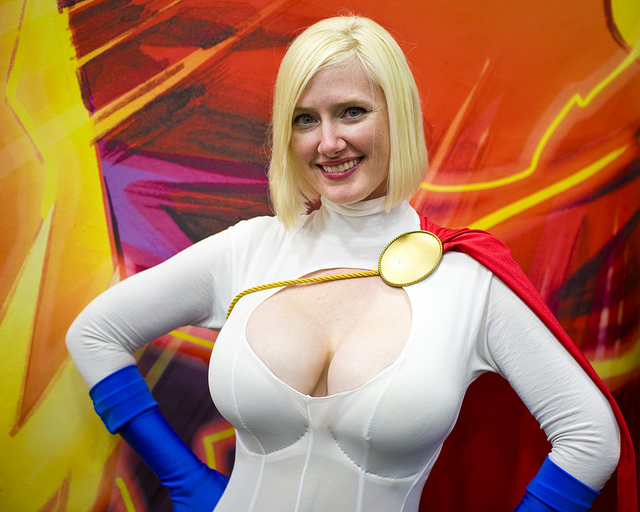 power girl in all her glory