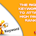 You Must Use The Right Keywords To Attain High Page Rank