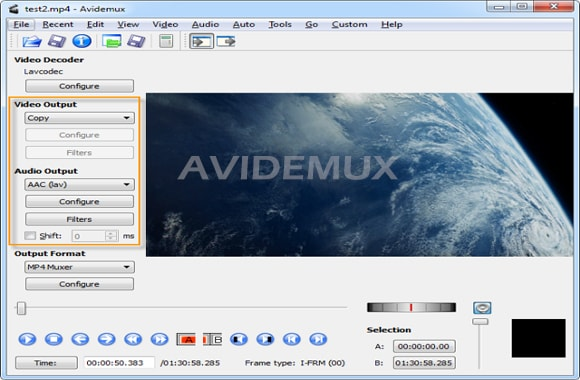 sofware edit video avidemux