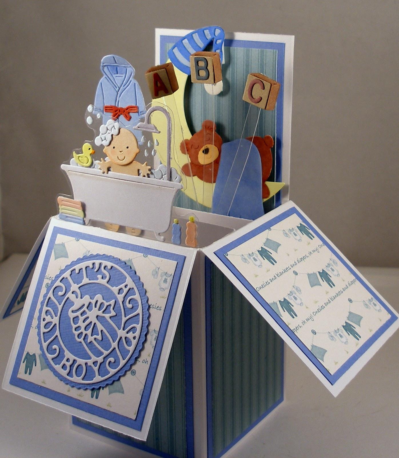 CottageBLOG Baby Boy Pop Up Box Card