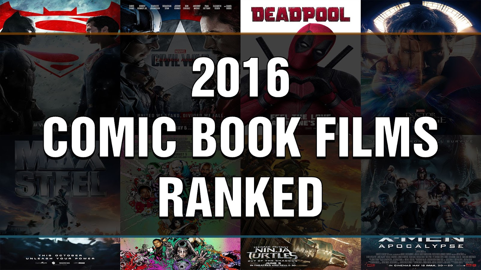 comic book films ranked 2016