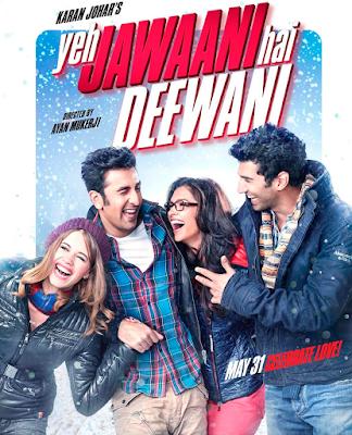 filem hindustan tentang travel dan friendship, yeh jawaani hai deewani, travel to Manali, randbir kapoor, deepika padukone