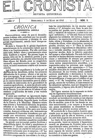 EL CRONISTA. REVISTA QUINCENAL DE SERRADILLLA