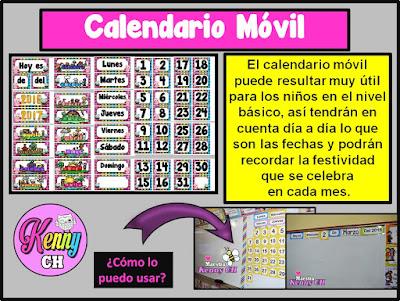 calendario móvil