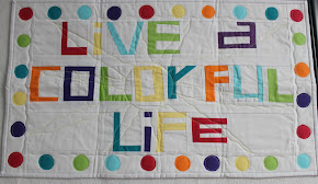 My blog header turned into a quilt by Felicity!