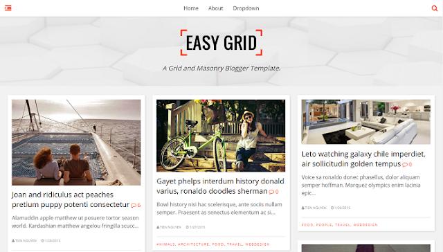 Easy Grid Blogger Teması