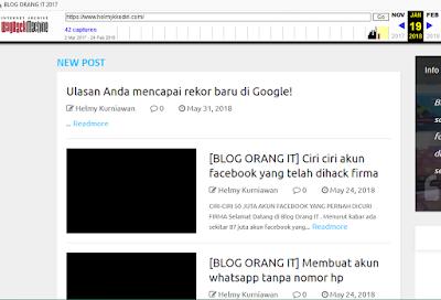Bukan bekas blog ilegal
