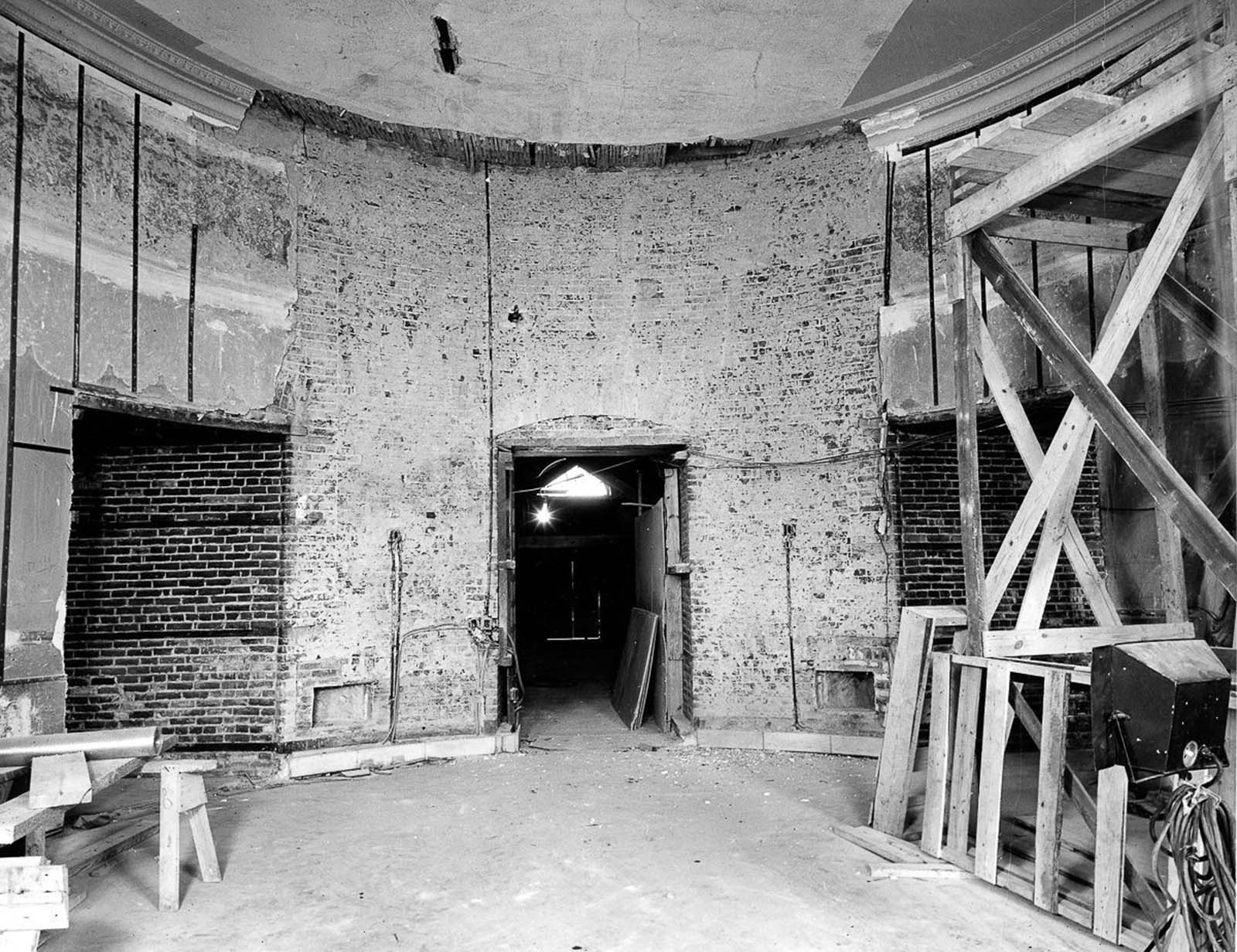 Renovation work on the White House. 1950.