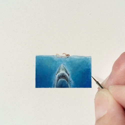 33-Movie-Jaws-Karen-Libecap-Star-Wars-&-other-Miniature-Paintings-and-drawings-www-designstack-co