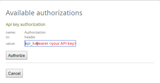 How to add authentication key in Swagger | Tharsan's Blog