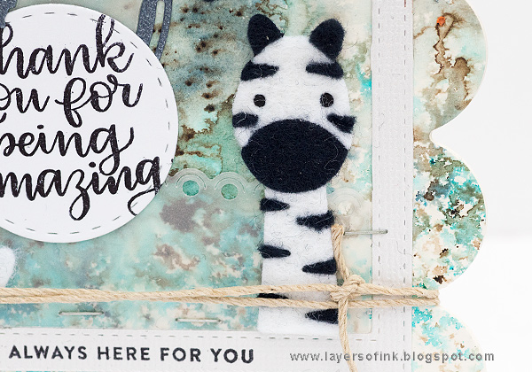 Layers of ink - Scalloped Zebra Cards Tutorial by Anna-Karin Evaldsson with SSS Picture Book Zebra die.