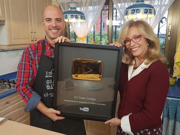 Silvia Tortosa y El saber culinario boton de oro youtube