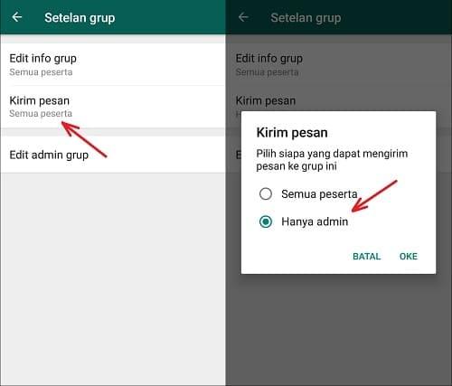 Cara Agar Admin Saja yang Bisa Kirim Pesan di Grup WhatsApp