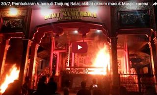 tercatat 10 rumah dan 6 wihara rumah ibadat umat Budha di bakar