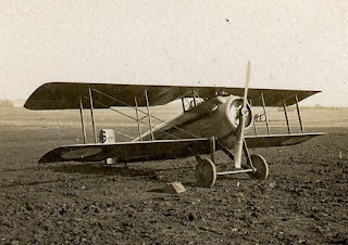 A Spad VII similar to the one flown by Luigi Olivari