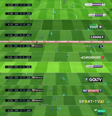 PES 2017 LaLiga Scoreboard and TV Logo Pack