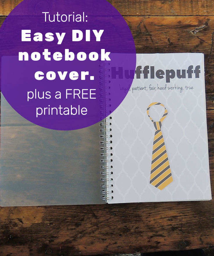 DIY Easy Notebook Cover ~ This Gal Knows