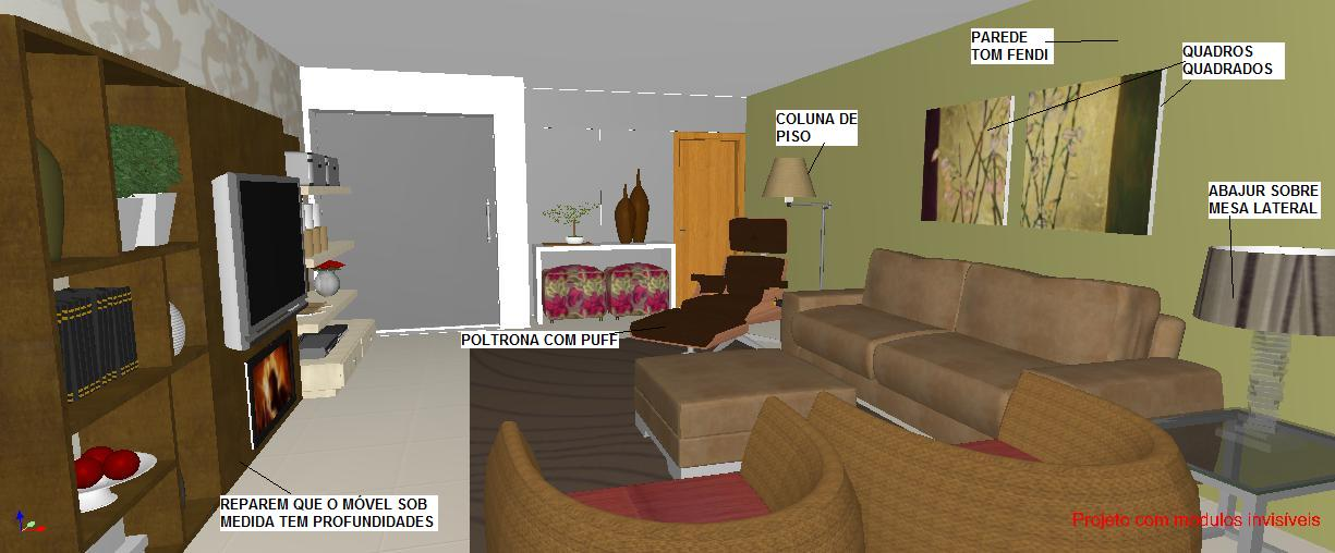 pequena sala de apartamento
