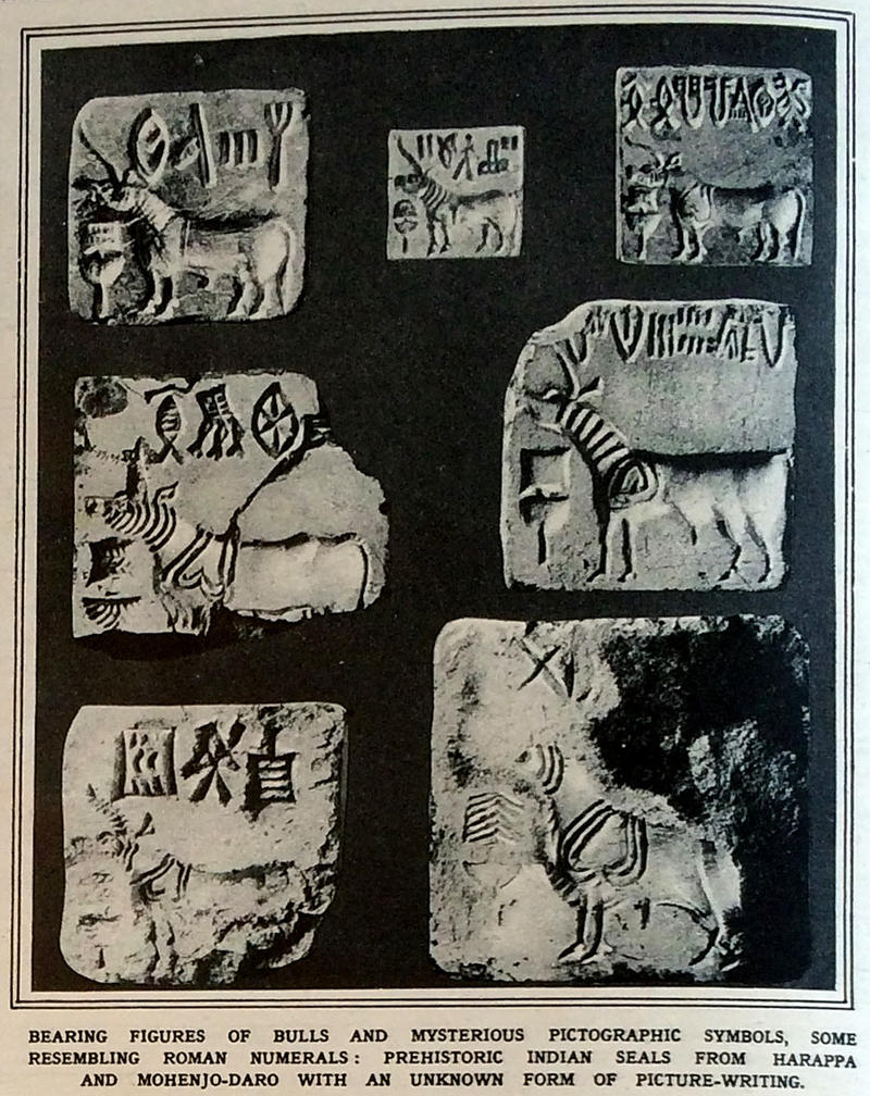 com harappa and mohenjo daro indus valley sir john marshall who published the findings wrote the animal most often represented on the seals is the apparently single horned beast