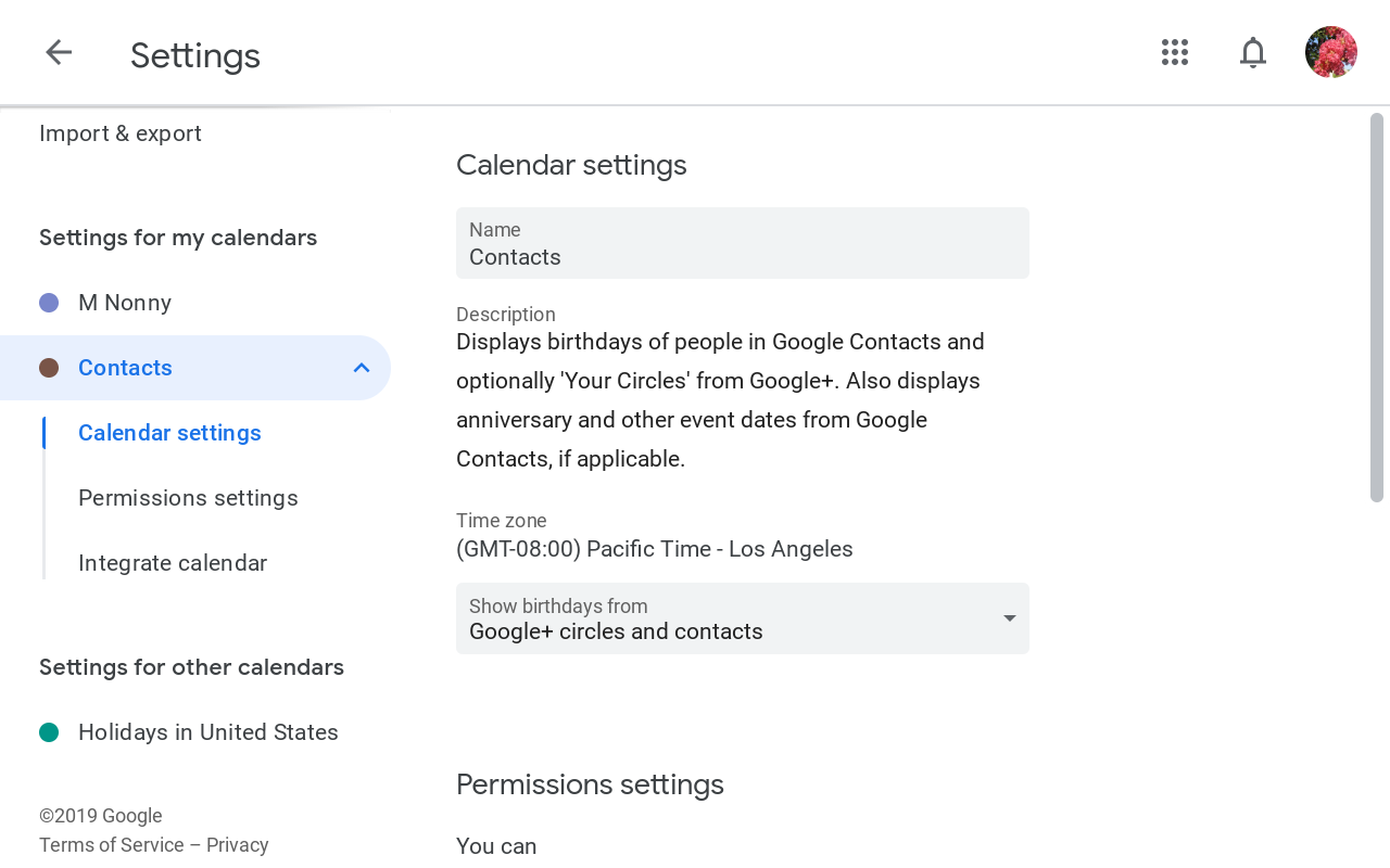 Google+ Events and Google+ Birthdays removed from Google Calendar