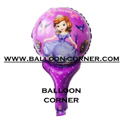 Balon Foil Raket Karakter Princess Sofia