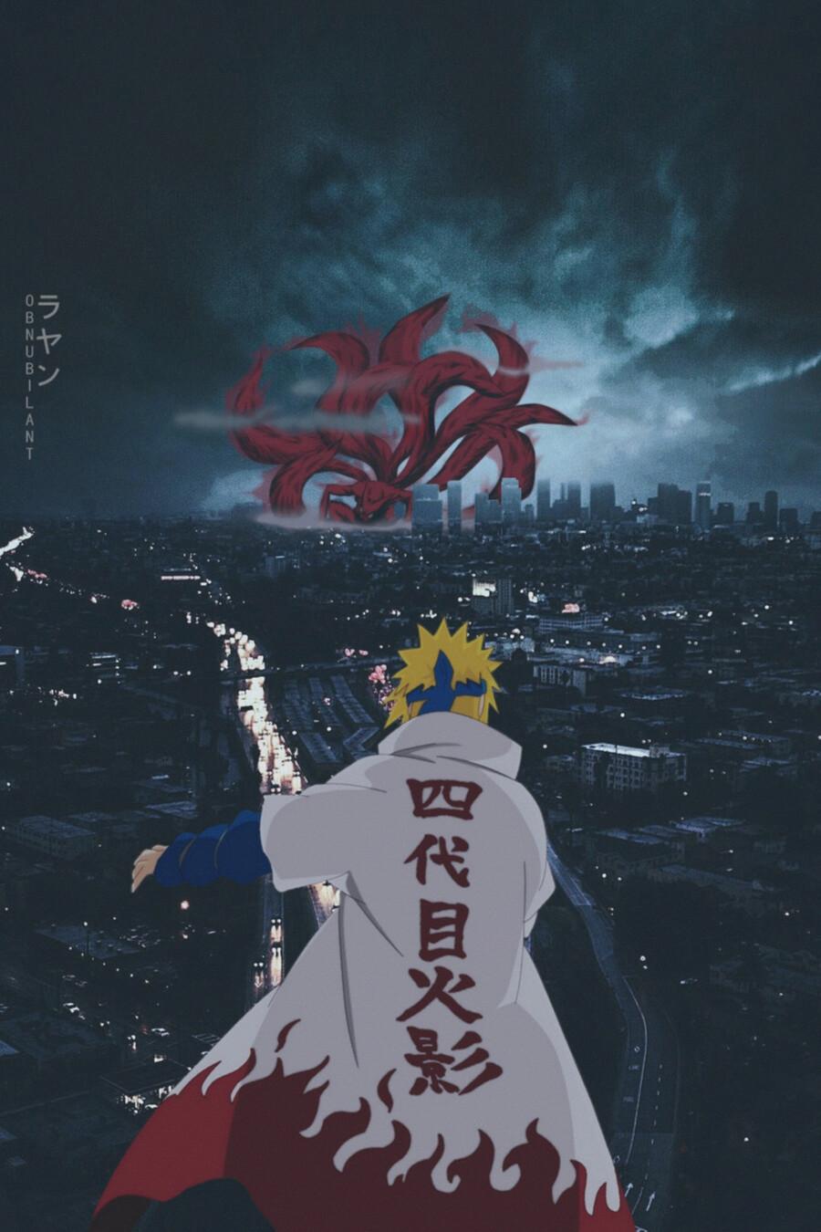 Minato vs Kurama wallpapper hd