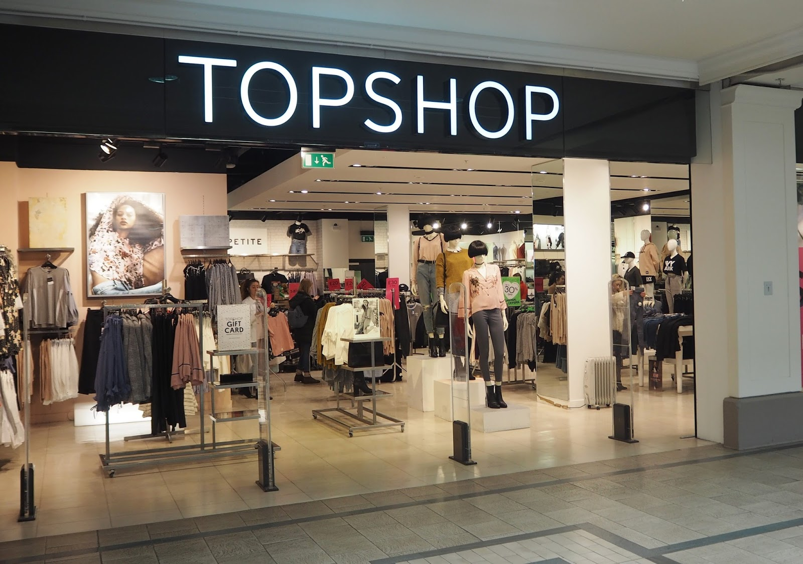 Topshop, Westmorland shopping centre, Kendal