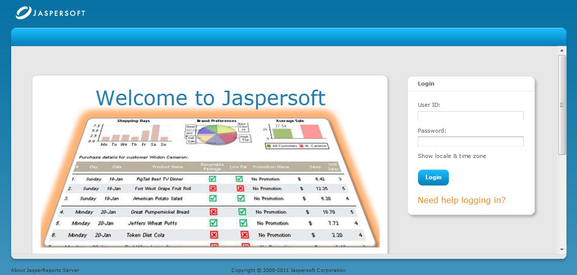 jasperreports server 4.5.0