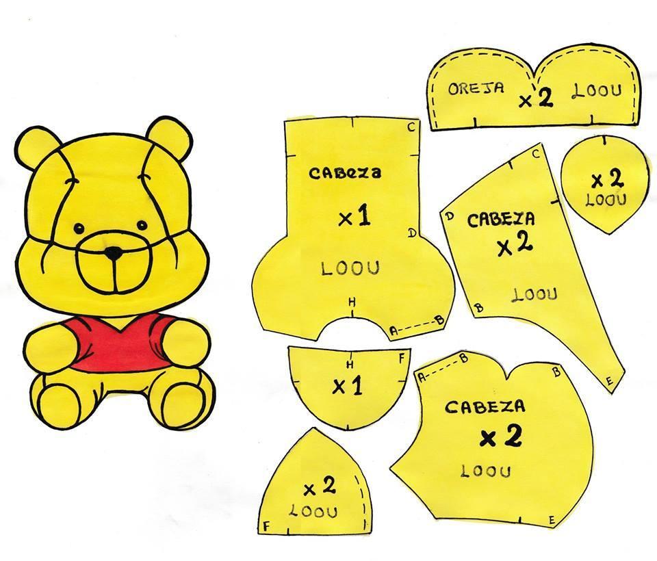 Eu Amo Artesanato: Ursinho Pooh com molde