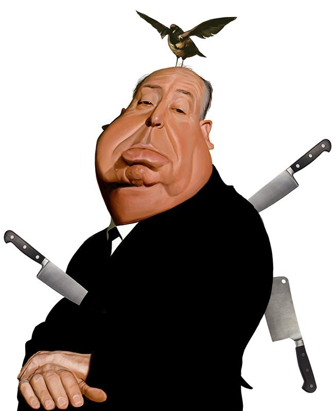 """Alfred Hitchcock"" por Mark Hammermeister"