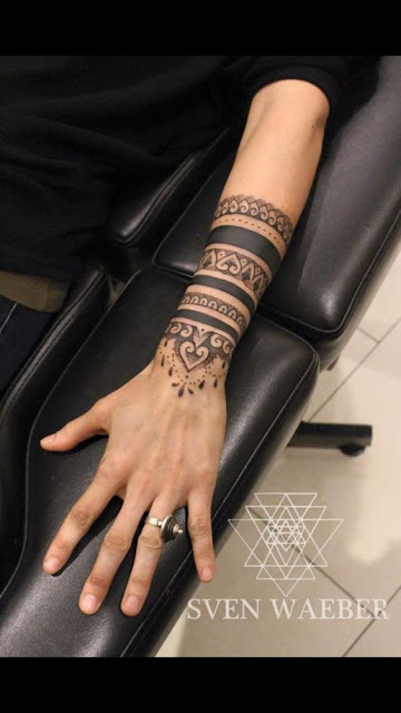 Forearm Mandala Tattoo For Girls