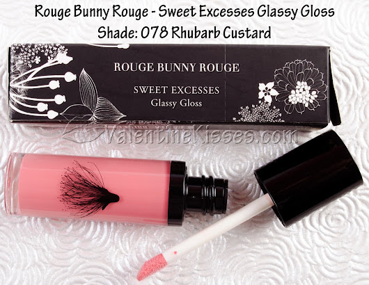 Valentine Kisses: Rouge Bunny Rouge Swell Excesses Glassy Gloss in Rhubarb Custard - pics, swatches, review