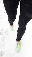 Espadrilles de course, l'hiver