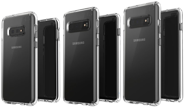 The leaked picture shows three different types of Samsung Galaxy S10 lineup