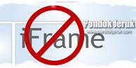 Cara Mencegah Website / Blog di Frame Oleh Orang Lain Paling Ampuh dan Aman