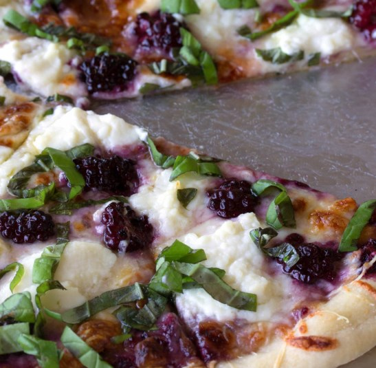 BLACKBERRY BASIL RICOTTA PIZZA