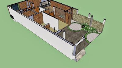 desain rumah di lahan sempit: denah rumah sekaligus tempat