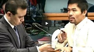 WATCH: Trillanes Di Nakaporma Sa Bagsik Ng Tanong Ni Sen. Pacquiao Sa Senado