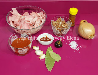 Ingredientes Crestas de pollo