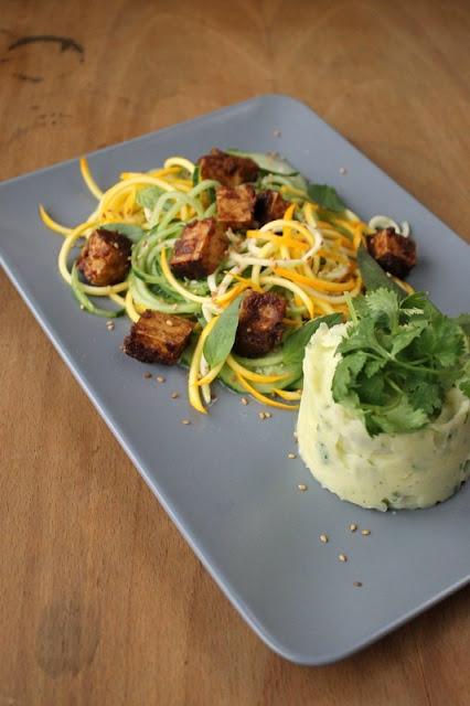 Koriander-Kartoffelpüree