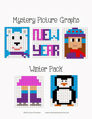 http://www.teacherspayteachers.com/Product/Mystery-Picture-Graphs-WinterJanuaryNew-Year-Pack-1026512