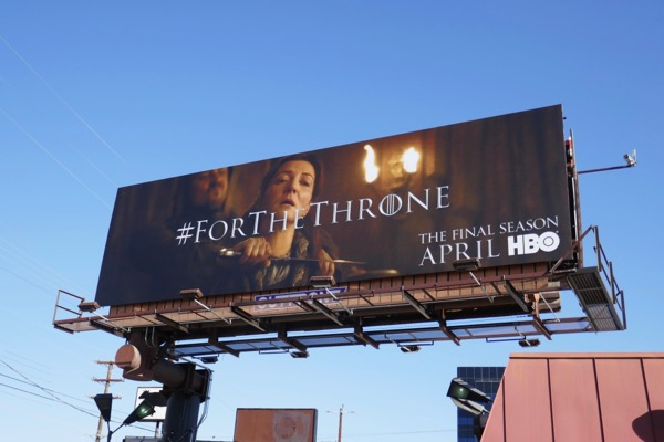 Game of Thrones final season 8 Red Wedding billboard