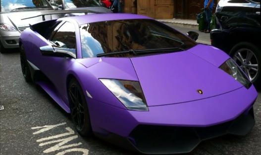 Matte Fanatic Matte Purple Lamborghini Murcielago Sv